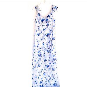 Nine West Floral Maxi Dress NWOT size 8